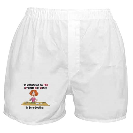 Scrapbooking PhD Boxer Shorts