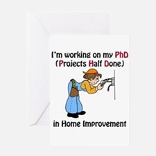 Home Improvement PhD Greeting Card
