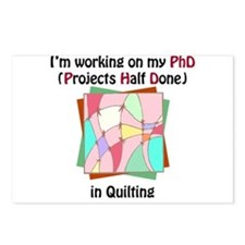 Quilting PhD Postcards (Package of 8)