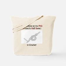 Crochet PhD Tote Bag