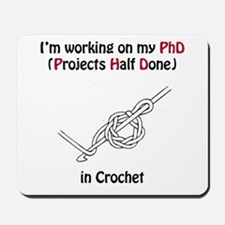 Crochet PhD Mousepad