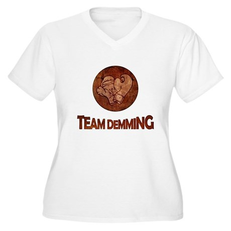 """Team Demming"" Women's Plus Size V-Neck T-Shirt"