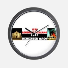 Remember The Alamo Wall Clock
