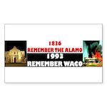 Remember The Alamo Sticker (Rectangle)