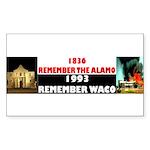 Remember The Alamo Sticker (Rectangle 50 pk)