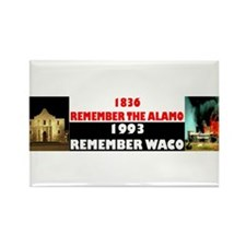 Remember The Alamo Rectangle Magnet