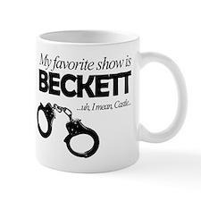 """My Favorite Show Is Beckett"" Small Mug"