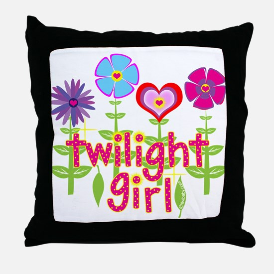 Twilight Girl by Twibaby Throw Pillow