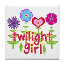 Twilight Girl by Twibaby Tile Coaster