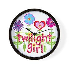 Twilight Girl by Twibaby Wall Clock