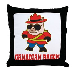 Canadian Bacon Throw Pillow