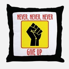 RISE UP IN 2010 Throw Pillow