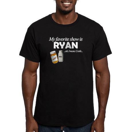 """Favorite Show Ryan"" Men's Fitted T-Shirt (dark)"