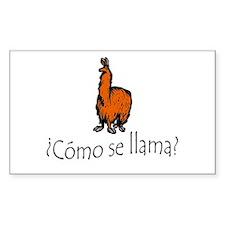 Como Se Llama (The Original 2005 Print) Decal