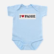 I LOVE PAIGE ~  Infant Creeper