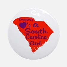 Everybody Loves a SC Girl (OP Ornament (Round)