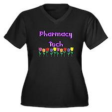 More Pharmacist Women's Plus Size V-Neck Dark T-Sh