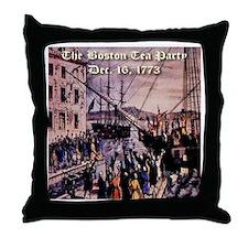 The Boston Tea Party Throw Pillow