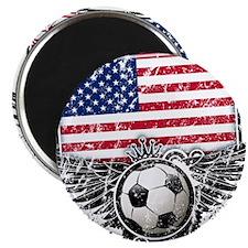 "Soccer Fan United States 2.25"" Magnet (10 pack)"