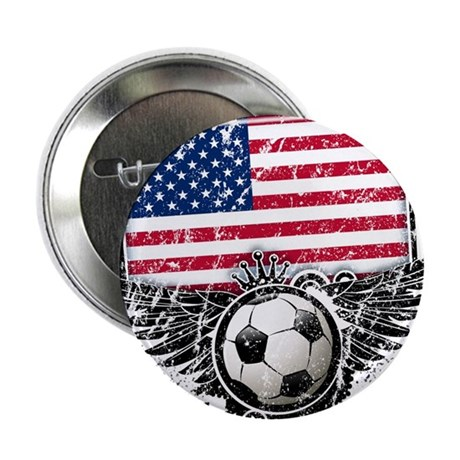 """Soccer Fan United States 2.25"""" Button"""
