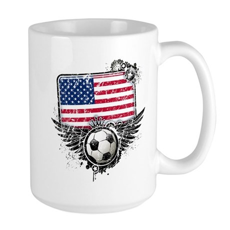 Soccer Fan United States Large Mug