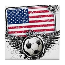 Soccer Fan United States Tile Coaster