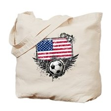 Soccer Fan United States Tote Bag