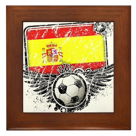 Soccer Fan Spain Framed Tile