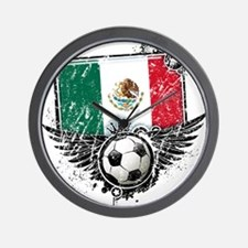 Soccer Fan Mexico Wall Clock