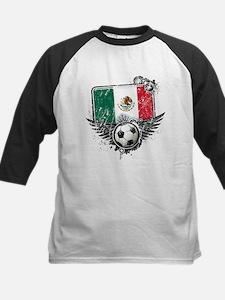 Soccer Fan Mexico Kids Baseball Jersey