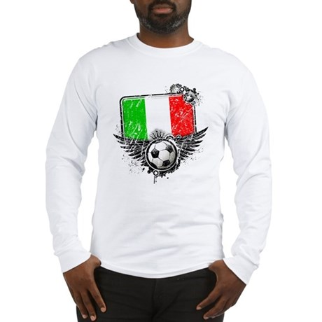 Soccer Fan Italy Long Sleeve T-Shirt