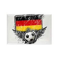 Soccer Fan Germany Rectangle Magnet