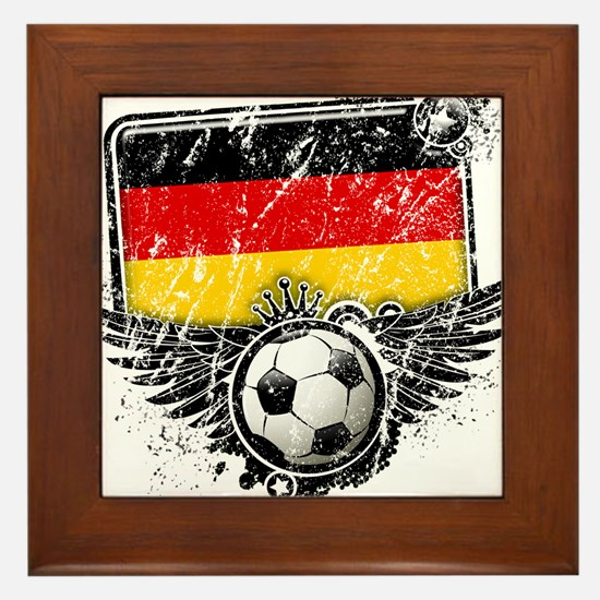 Soccer Fan Germany Framed Tile