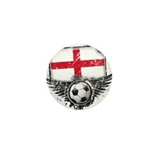 Soccer Fan England Mini Button