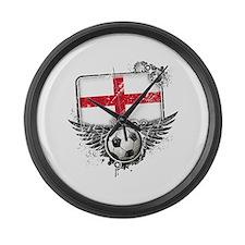 Soccer Fan England Large Wall Clock