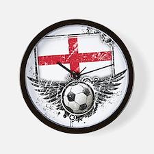 Soccer Fan England Wall Clock