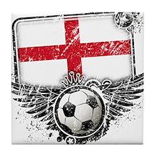 Soccer Fan England Tile Coaster