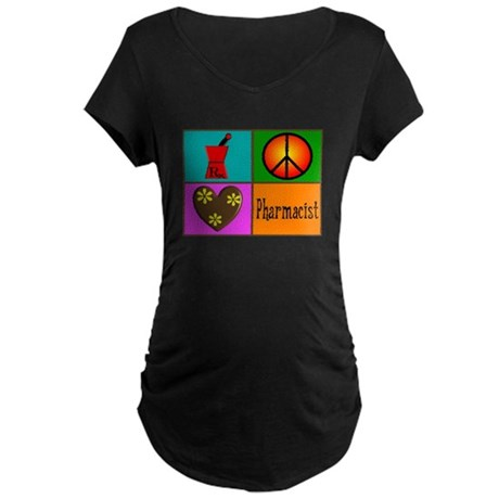 More Pharmacist Maternity Dark T-Shirt
