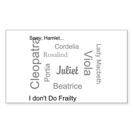 Sorry, Hamlet Sticker (Rectangle)