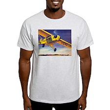 Piper Cub In Flight Ash Grey T-Shirt