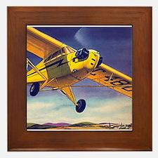 Piper Cub In Flight Framed Tile