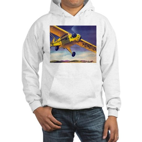 Piper Cub In Flight Hooded Sweatshirt