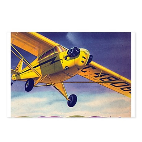Piper Cub In Flight Postcards (Package of 8)