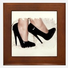 Sexy Shoes Framed Tile