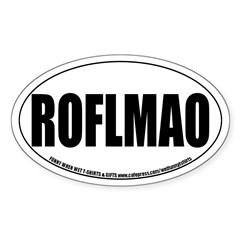 ROFLMAO Oval Decal