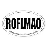 ROFLMAO Oval Sticker