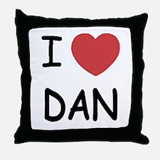 I heart Dan Throw Pillow