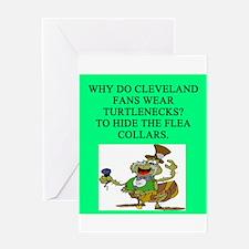 anti cleveland sports joke Greeting Card