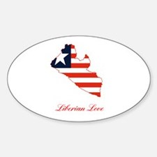 COUNTRY WITH FLAG Oval Decal