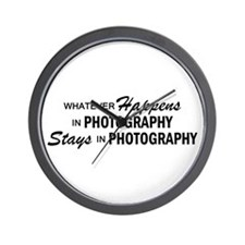 Whatever Happens - Photography Wall Clock